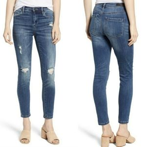 Blank NYC The Bond Midrise Distressed Skinny Jeans